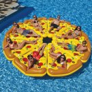 180*150cm Pizza Row Color Floating Bed Ring Baby Swimming Pool Dining Pushchair