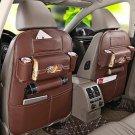 Leather Car Seat Storage Bag Multifunctional Storage Box Car Seat Back Bag