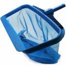 Skimmer Net, Heavy Duty Leaf Rake Cleaning Tool, Fine Mesh Net Bag Catcher