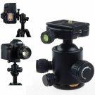 360 Metal Ball Head Ballhead+QR Quick Release Plate for DSLR Camera Tripod Head