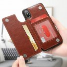 Retro PU Leather Case For iPhone 6 6s 7 8 Plus  X XS Max XR Card Holders