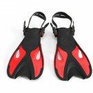 Swimming Fins For Kids Adult Adjustable Foot  Professional Diving Snorkeling