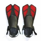 Swimming Fins Snorkeling Foot Flipper Floating Training Fin with Adjustable Heel