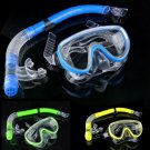 Diving Mask Snorkel Glasses Set Underwater Anti Fog Scuba Snorkel Glasses Set