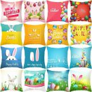 45*45cm Pillows Case Cotton Rabbit Happy Easter Decorations For Home Bunny Eggs