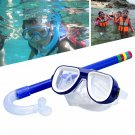 Child Diving Snorkeling Mask Swimming Scuba Total Dry Snorkel and Mask Glass Len