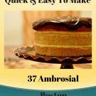 37 Ambrosial Boston Cream Pie Recipes Ebook