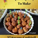 37 Savory Cocktail Meatball Ebook