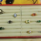 9 Mixed Color Rings Size 6 & 7