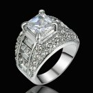 Size 9  10K white Gold Filled White Topaz  Fashion Ring