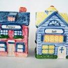 Vintage Salt & Pepper Shaker Avon Cottage Collection Houses