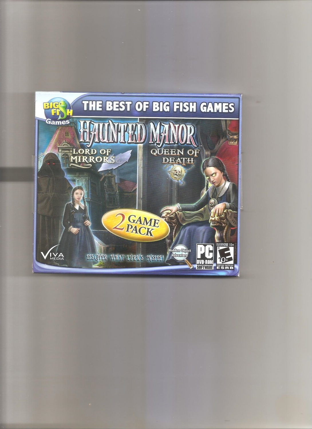 Big Fish Haunted Manor: Lord of Mirrors/Haunted Manor: Queen of Death (PC, 2012)