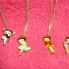 6 Betty Boop Necklaces Different Colors