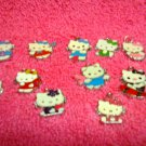 12 Hello Kitty Charms Different Colors & Designs