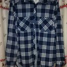 Passport Blue Blouse 3/4 - Long Sleeves Size 1X 2 Pockets