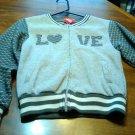 Girly Gray Love Coat/Jacket Size 10