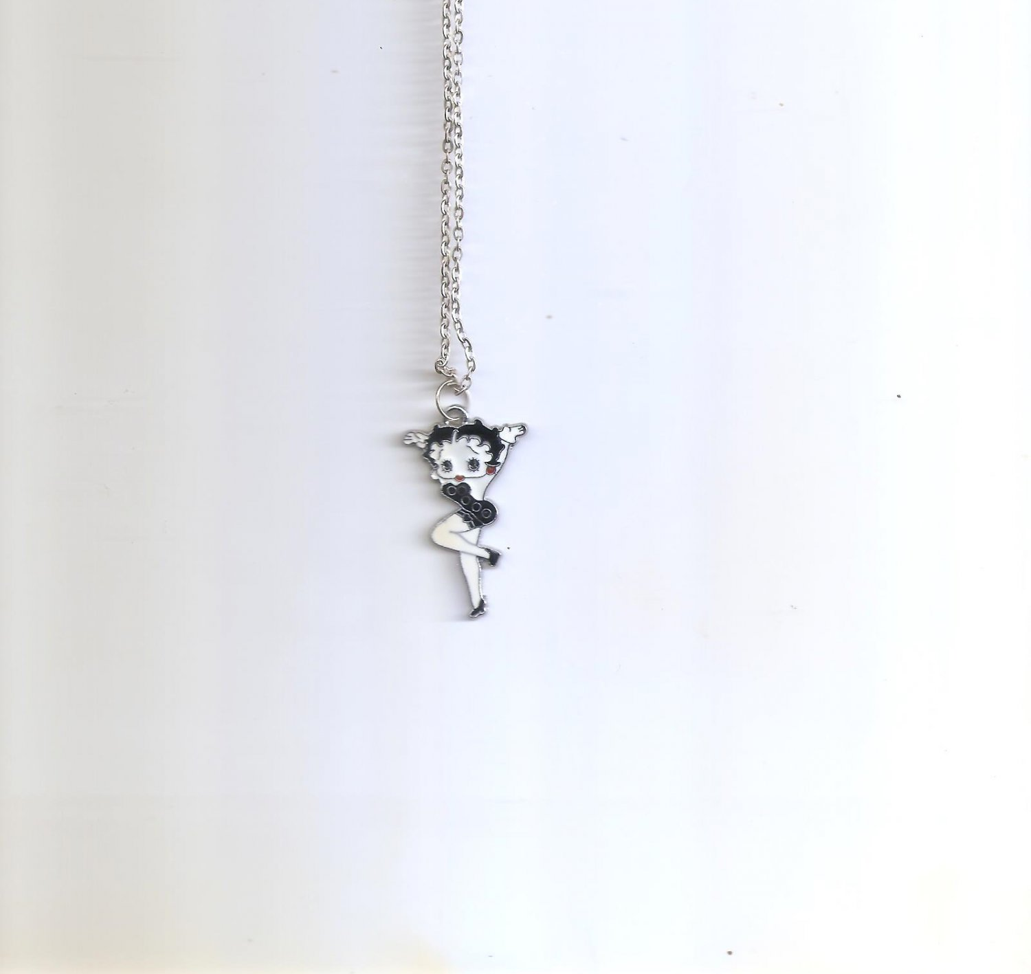 Betty Boop Sexy  Black Party Dress Necklace