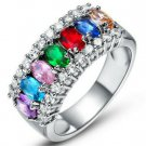 Multi-Color Gemstone  Ring  Size 8