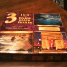3 Deluxe Jigsaw Puzzles 1000 Pieces Jumping Dolphins, Twelve Apostles Age 12 &up