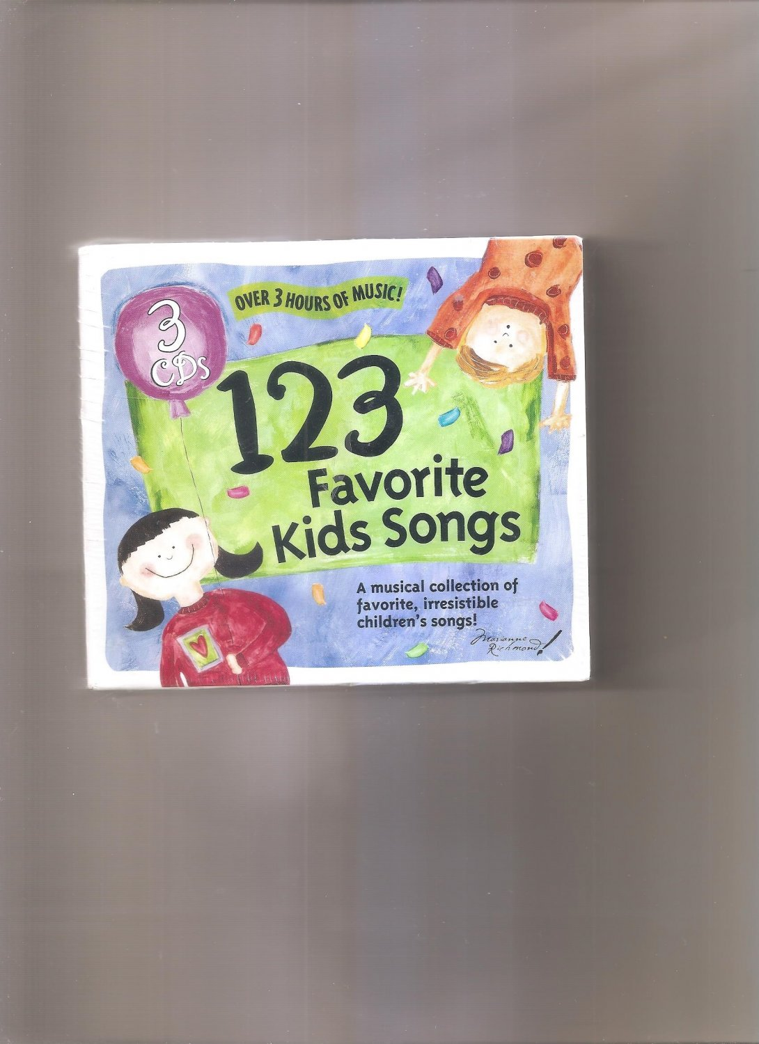 123 Favorite Kids Songs, Vol. 1-3 [Box] by Various Artists (CD, Jan-2004