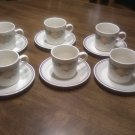 Corelle 6 cups and 6 saucers Peach Berries Pattern