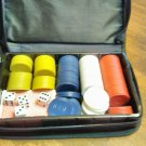 Poker Chips Cards Dice in Black Carrying Case