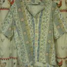 Coral Bay Short Sleeve Flower Shirt Size 1X