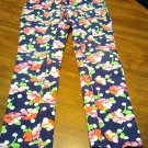 Children's Place Pants Size 8 Pink Blue Flowers