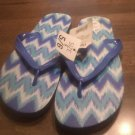 Ladies Blue Color Flip Flops Size 5/6