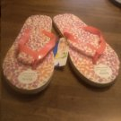 Ladies Tropic Multi Color Flip Flops Size 5/6