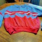 Haband Long Sleeve Shirt Size 2X  100% Acrylic Red / Blue