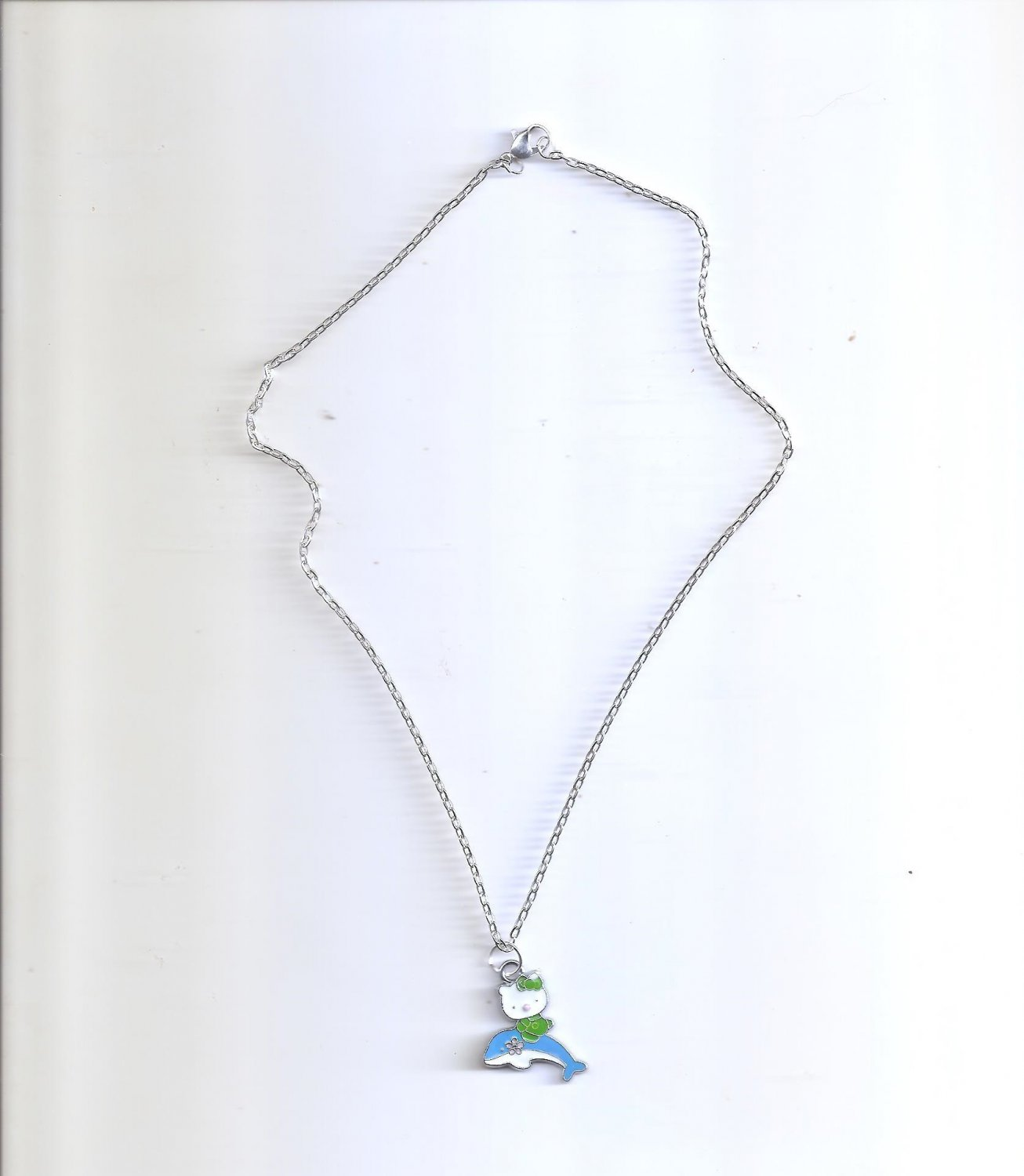 Hello Kitty Blue Dolphin Necklace
