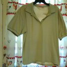 Tan Southern Expressions Blouse Short Sleeves Size 3X