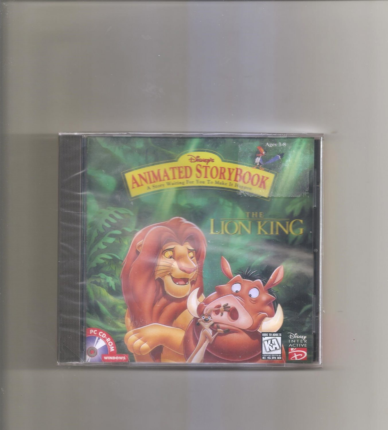 Disney Lion King Animated Storybook (Jewel Case) CD-ROM