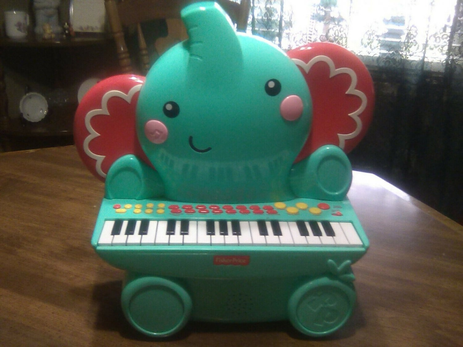 Fisher Price Music Piano Blue Elephant Toy