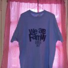 Blue T-Shirt We Are Family Ross 2K17 Size 1X