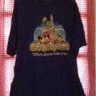Walt Disney Where Dreams Come True Blue T-Shirt Size Xlarge