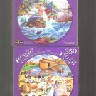 2 Crazy Art Round Puzzle 350 Pieces The Little Mermaid & Noah's Ark