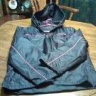 Horseshoe Black & Pink Jacket Coat With Hood Size 1X