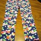 Children's Place Pants Size 8 Pink Blue Flowers