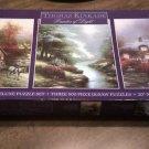 Thomas Kinkade Painter of Light Deluxe Puzzle Set - 3 Full Size 500 Piece Jigsaw