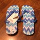 Tropic Sun Blue Flip Flops Size 5/6