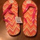 Tropic Sun Pink / Yellow Flip Flops Size 5/6