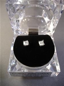 925 Silver ICED OUT CZ EARRINGS HIP HOP BLIN