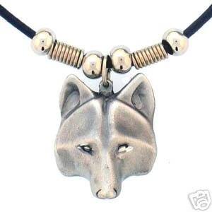 WOLF HEAD EARTH SPIRIT NECKLACE