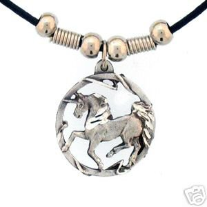 PRANCING UNICORN EARTH SPIRIT NECKLACE