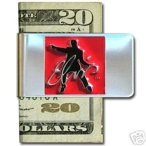 3D ELVIS PRESELY IN SQUARE PEWTER EMBLEM MONEY CLIP