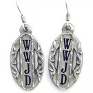 WWJD EARTH SPIRIT DANGLE EARRINGS