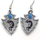 KOKOPELLI EARTH SPIRIT DANGLE EARRINGS