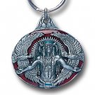 GREAT SPIRIT INDIAN CHIEF AND EAGLES SCULPTED ENAMELED KEY RING KEY CHAIN